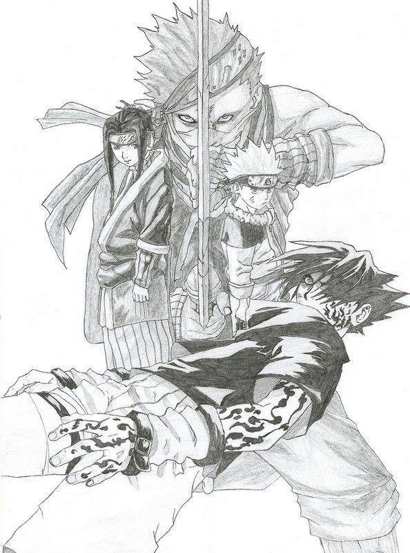 Gaara et naruto page 6 - Comment dessiner sasuke ...